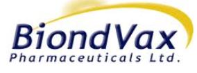 WFI Vorbehandlung, Aufbereitung, Speicherung und Verteilung, Biondvax, Israel